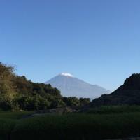 富士山初冠雪
